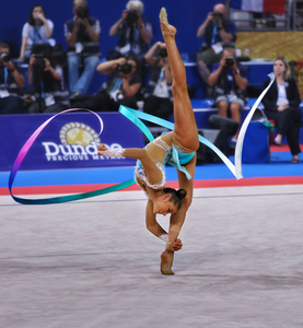 World and European champion in rhythmic gymnastics, Aleksandra Soldatova