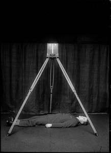 Rodolphe A. Reiss. Demonstration of the Bertillon metric photography System, 1925 © R. A. REIS. Courtesy of Collection of the Institut de police scientifique de l'Université de Lausanne