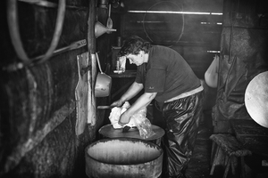 Cheese making by the only shepard female in Slovakia I know.
