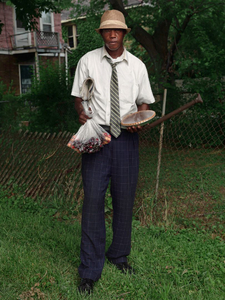 Terrance Selling Cherries and Pies, Eastside, Detroit 2014