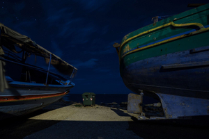 On September 28th, 2008, after 10 days drifting the immigrants arriving in Portopalo told: 13 people death and were thrown into the sea © Massimo Cristaldi