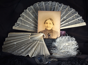 Lady with Fans