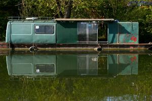 Green Van Houseboat