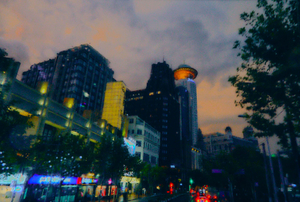 9 Shanghai view on a rainy evening