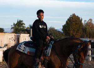Cowboy in training