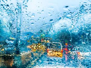 With light rain