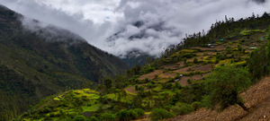 The Lares valley as seen from the town of Choquecancha