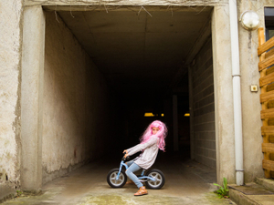 Pink wig little girl #2