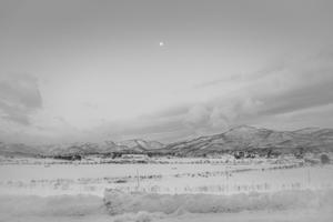 Dawn of snowy village