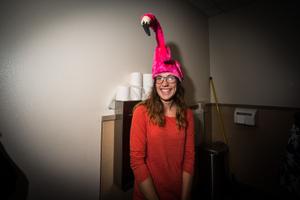 Flamingo in the Toilet, Leavenworth WA, October 2014