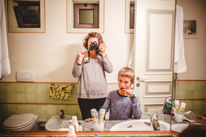 Ghost Mom 9 (brushing our teeth in Italy)