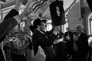 Celebration at Choral Synagogue to welcome the 350 year old Torah scroll back to Vilnius
