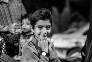 Happy boy during Imam Houssein Birthday.