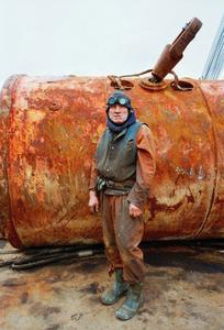 "Shipyard, 1993. From the book ""Men/Women"" © Tom Wood"