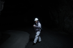 Tourists can also go into the mine. At the level of 540m underground there is a museum, a visitors mine and even a cafe.