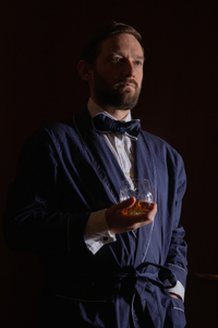 Man with whisky glass