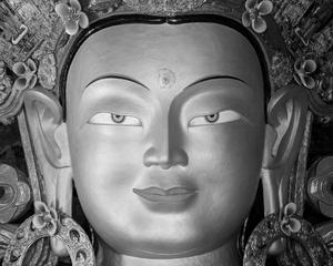 The buddha at Tiksey Gompa