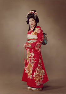 Mother wears the Japanese wedding dress