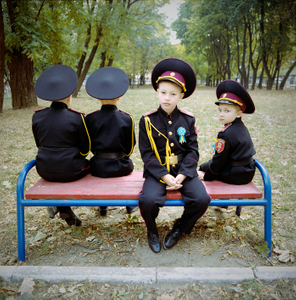 Young cadets. Military boarding school, Ukraine, 2015. © Michal Chelbin