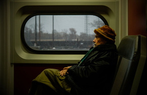 Man on a train