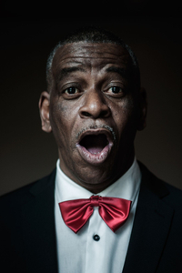 individual portrait of man in man's choir