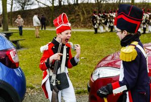 Waterloo 200 is coming. a new monument was placed at Waterloo. Re-enactors get ready.