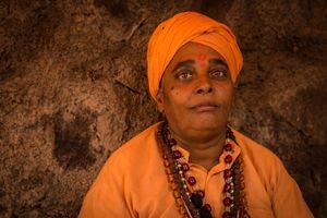 Sadhvi or female sadhu, Kumbha Mela India 2015