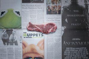 Beef Steak. New York, USA. October 2011. 4.90 dollars (3.60 euros)