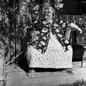Nadezhda Chustvina. A poetess and a craftswoman. Nadezhda had a very difficult life, resulting in health problems. Suffering from overweight, she rarely appears in public. Noviy Vasyugan. Tomsk region. Russia. 2009.