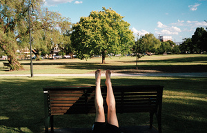 Bare feet in the park, 2012