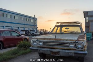 Old Car at Sunset