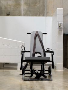 """Camp 6 Mobile Force Feeding Chair from """"If The Light Goes Out: Home from Guantanamo"""" © Edmund Clark"""