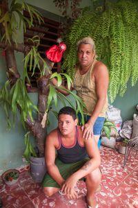 Orlando, dressmaker, with partner, Yosvany, Havana © Mariette Allen
