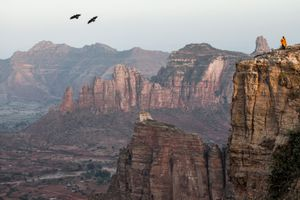 Dusk in the Tigray Mountains