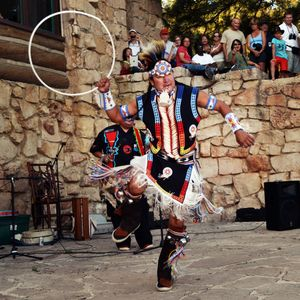 Hopi Indian Hoop Dancer, Grand Canyon, Arizona