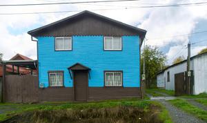 blue houses,