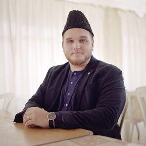 Mansoor Clarke, Young training Imam, England, UK.