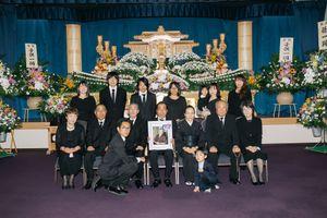 Nakamura family at her funeral (2018)