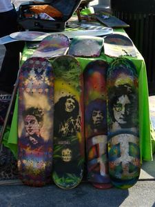 Skateboards, Venice Beach, California