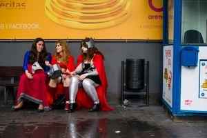 Thor, Wonder Woman and Super Girl. Barcelona. 2016