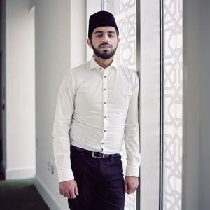 Young training Imam, England, UK.