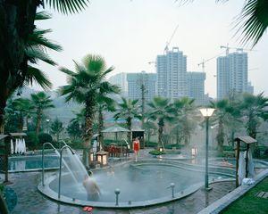 """China, Fuling, Chongqing municipality. January 2015.New hot spring spa complex""."