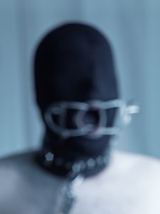 spandex mask, mouth spreader