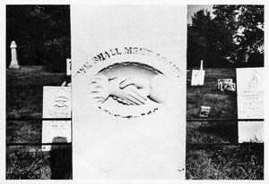 Postcard 8: Gravestones (south of Waterloo, Jefferson County, WI), 1977