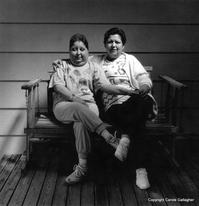 Downwinder LaVerl Snyder with her daughter, Diana Lee Woosley. Reno, Nevada, 1989