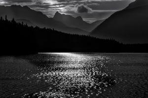 Moon Light at Johnson Lake