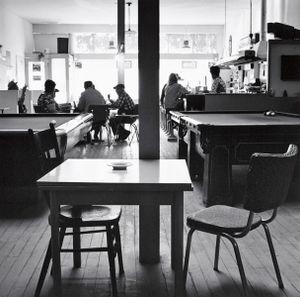 Bar and Poolroom. Calhan, Colorado. 1970. © Robert Adams. Image courtesy of Fraenkel Gallery.