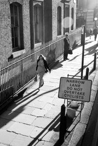 Narrow Sunny Street. London.