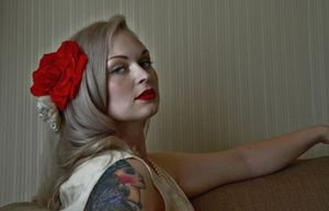 Red Rose-Red lips-Red Cheek