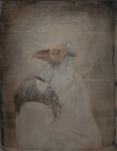 © Zelko Nedic, The Man Who Played With My Honour                                 8x10 Tintype, Hand Coloured